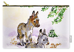 Donkeys Carry-all Pouch by Diane Matthes
