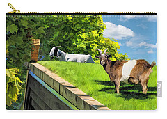 Door County Al Johnsons Swedish Restaurant Goats Carry-all Pouch by Christopher Arndt