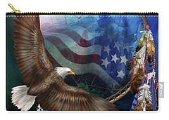 Dream Catcher - Freedom's Flight Carry-all Pouch by Carol Cavalaris