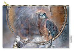 Dream Catcher - Hawk Spirit Carry-all Pouch by Carol Cavalaris
