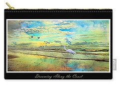 Dreaming Along The Coast -- Egret  Carry-all Pouch by Betsy Knapp