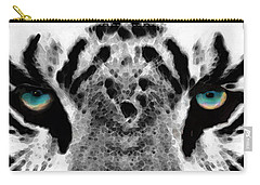 Dressed To Kill - White Tiger Art By Sharon Cummings Carry-all Pouch by Sharon Cummings