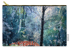 Duke Gardens Watercolor Batik Carry-all Pouch by Ryan Fox