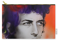 Bob Dylan - ' Dylan ' Carry-all Pouch by Christian Chapman Art