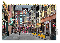 East Fourth Street In Cleveland Carry-all Pouch by Frozen in Time Fine Art Photography