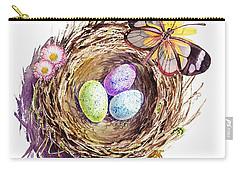 Easter Colors Bird Nest Carry-all Pouch by Irina Sztukowski