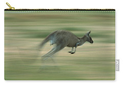 Eastern Grey Kangaroo Female Hopping Carry-all Pouch by Ingo Arndt