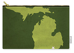 Eastern Michigan University Eagles Ypsilanti College Town State Map Poster Series No 035 Carry-all Pouch by Design Turnpike