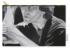 Eddie Vedder Black And White Carry-all Pouch by Joshua Morton