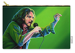 Eddie Vedder Of Pearl Jam Carry-all Pouch by Paul Meijering