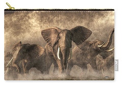 Elephant Stampede Carry-all Pouch by Daniel Eskridge