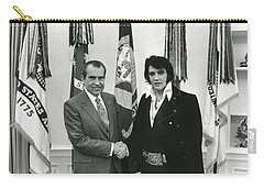 Elvis And Nixon Carry-all Pouch by Unknown