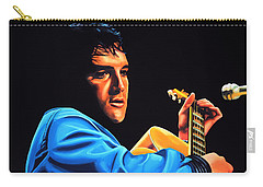 Elvis Presley 2 Painting Carry-all Pouch by Paul Meijering