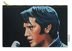 Elvis Presley 3 Painting Carry-all Pouch by Paul Meijering