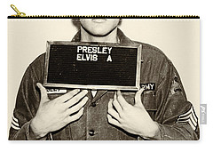Elvis Presley - Mugshot Carry-all Pouch by Bill Cannon