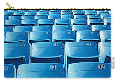Empty Blue Seats In A Stadium, Soldier Carry-all Pouch by Panoramic Images
