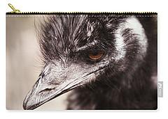 Emu Closeup Carry-all Pouch by Karol Livote