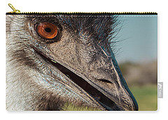 Emu Closeup  Carry-all Pouch by Robert Frederick