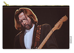 Eric Clapton Painting Carry-all Pouch by Paul Meijering