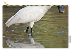 Eurasian Spoonbill Platalea Leucorodia Carry-all Pouch by Panoramic Images