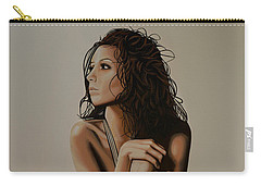 Eva Longoria Painting Carry-all Pouch by Paul Meijering
