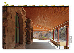 Carry-all Pouch featuring the photograph Evans Porch by Bill Gabbert