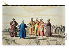 Evening Prayer Among The Kalmuks, Using Carry-all Pouch by Francois Fortune Antoine Ferogio
