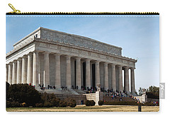 Facade Of The Lincoln Memorial, The Carry-all Pouch by Panoramic Images