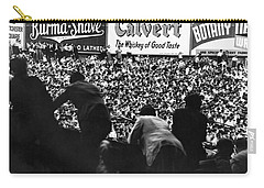 Fans In The Bleachers During A Baseball Game At Yankee Stadium Carry-all Pouch by Underwood Archives