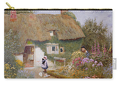 Feeding The Pigeons Carry-all Pouch by Arthur Claude Strachan