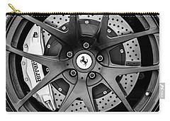 Ferrari Wheel Emblem - Brake Emblem -0430bw Carry-all Pouch by Jill Reger