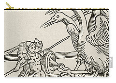 Fight Between Pygmies And Cranes. A Story From Greek Mythology Carry-all Pouch by English School