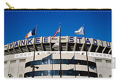 Flags In Front Of A Stadium, Yankee Carry-all Pouch by Panoramic Images