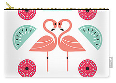 Flamingo Flutter Carry-all Pouch by Susan Claire