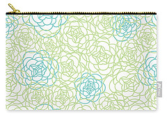 Floral Lines Carry-all Pouch by Susan Claire