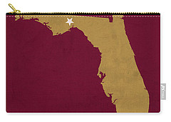 Florida State University Seminoles Tallahassee Florida Town State Map Poster Series No 039 Carry-all Pouch by Design Turnpike