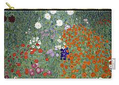 Flower Garden Carry-all Pouch by Gustav Klimt
