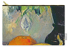 Flowers And Fruits Carry-all Pouch by Paul Cezanne