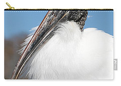 Fluffy Wood Stork Carry-all Pouch by Carol Groenen