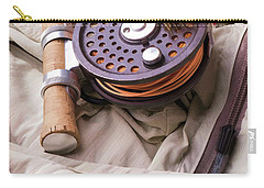 Fly Fishing Still Life Carry-all Pouch by Edward Fielding
