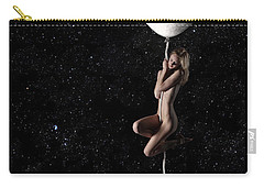 Fly Me To The Moon - Narrow Carry-all Pouch by Nikki Marie Smith
