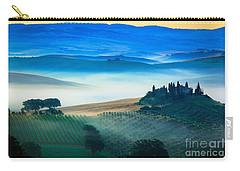 Fog In Tuscan Valley Carry-all Pouch by Inge Johnsson