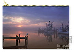 Foggy Sunset Over Swansboro Carry-all Pouch by Benanne Stiens
