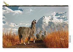 Follow The Llama Carry-all Pouch by Daniel Eskridge