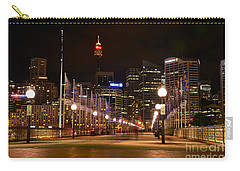 Foot Bridge By Night Carry-all Pouch by Kaye Menner