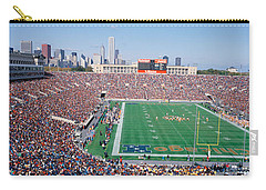 Football, Soldier Field, Chicago Carry-all Pouch by Panoramic Images