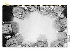 Football Team Huddle Carry-all Pouch by Underwood Archives