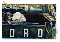 For Our Retriever Dogs Carry-all Pouch by Molly Poole