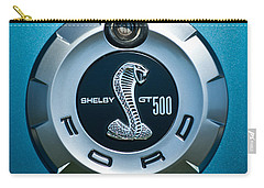 Ford Shelby Gt 500 Cobra Emblem Carry-all Pouch by Jill Reger
