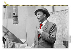 Frank Sinatra Painting Carry-all Pouch by Marvin Blaine
